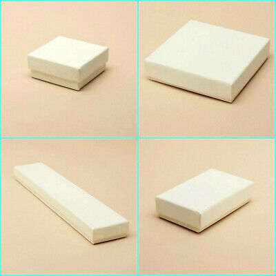 12 x Cream Large Letter Size Gift Boxes Jewellery Earring Necklace Pendant Boxes