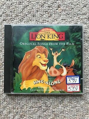 CD Disney The Lion King 'Sing Along Original Songs From The Film' (1994) Simba