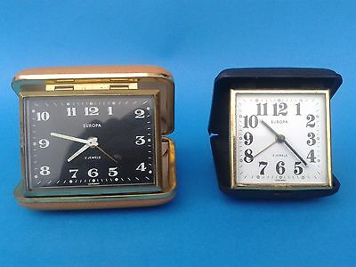 Vintage - 2 Travel the watch EUROPA Alarm Tourist Clock 2 Jewels - Germany