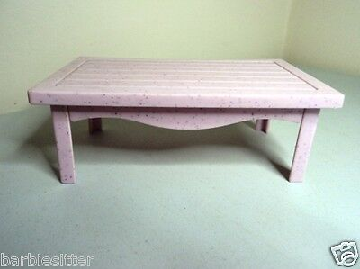 Pale pink  COFFEE TABLE Mattel teen fashion Barbie doll house furniture  1:6
