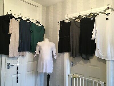 (196) Maternity Tops Bundle Size 12/M LOTS OF GAP FREE POSTAGE