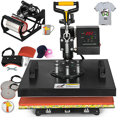 "15""x15"" 5IN1 Combo T-Shirt Heat Press Transfer Digital Sublimation Clamshell"