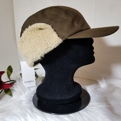 29eb6ccae16b33 NWT Men's Goodfellow & Co Sherpa Lined Snap Up Trapper Hunter Hat Olive One  Size
