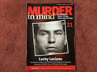 Murder In Mind Magazine - Issue 21 - Lucky Luciano - Good Condition !!