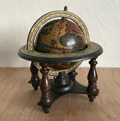 Vintage Horoscope Horology Old World Globe Made in Italy Spins on Stand