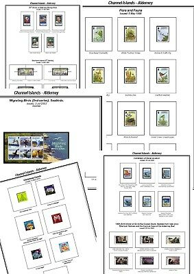 Print your own Alderney Stamp Album, fully illustrated and annotated