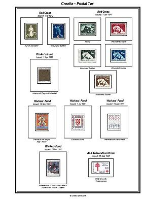 Print your own Cyprus Stamp Album, fully illustrated and annotated