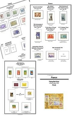 Print your own France Stamp Album, Extensively  illustrated and annotated