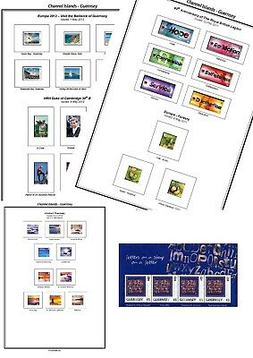 Print your own Guernsey Stamp Album, fully illustrated and annotated