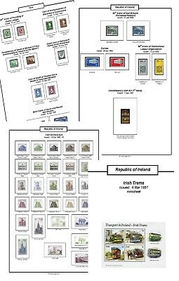 Print your own Ireland Stamp Album, fully illustrated and annotated