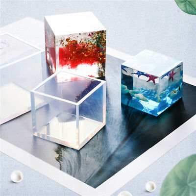 Square Resin Mold Cube Silicone Molds Casting for DIY Craft Pendant Making LH
