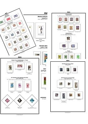 Print your own Malta Stamp Album, fully illustrated and annotated