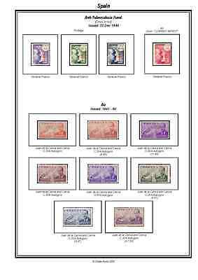 Print your own Spain Stamp Album, fully illustrated and annotated