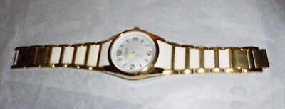 Joan Rivers Watch - White & Goldtone