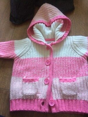 Girls Pink Cardigan 12-18 Months