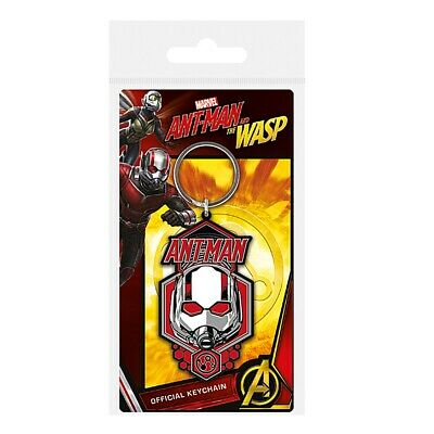 Genuine Marvel Comics Ant-Man Helmet Rubber Keyring Key Fob Ant-Man And The Wasp
