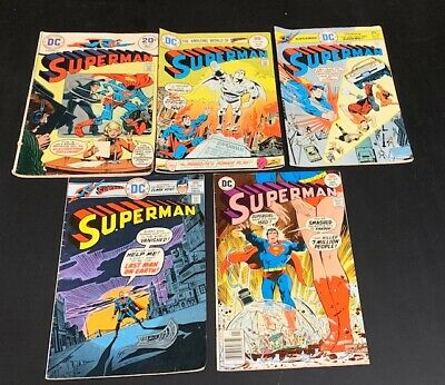Superman #'s 275 286 290 294 307. Lot of 5 Dc Bronze age Comics Supergirl in 307