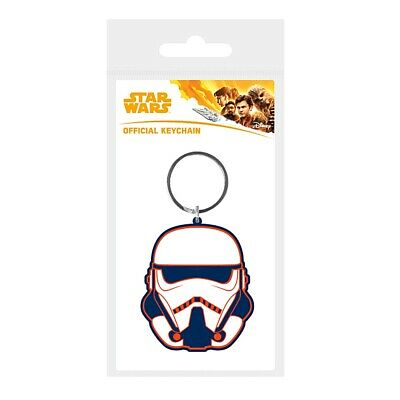 Genuine Star Wars Solo A Star Wars Story Stormtrooper Rubber Keyring Key Fob