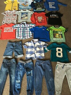 Boys Bundle Clothes 3-4 Years T-shirt Jeans Shorts Jumpers Paw Patrol Turtles