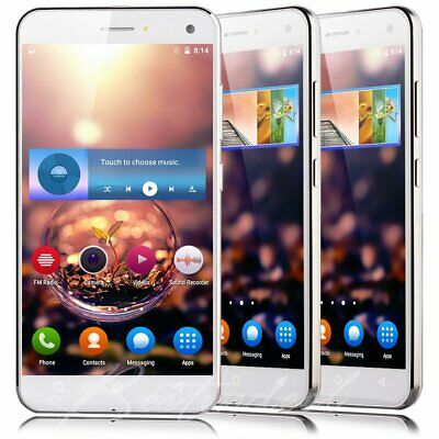 """Cheap New Unlocked 5"""" Android  Mobile Smart Phone Quad Core Dual SIM WiFi GPS 3G"""