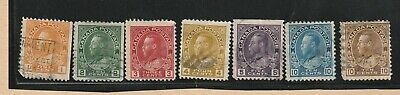 Canada Stamp 1922-25 KING GEORGE V ADMIRAL UNIFORM 7 stamps USED LOT 455