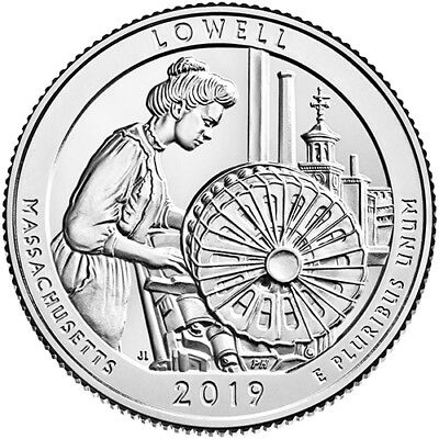 2019 S Clad Proof Lowell National Historical Park Lowell MA  Park NP Quarter