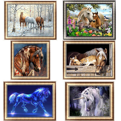 Horse 5D Diamond Painting DIY Embroidery Cross Stitch Home Decor Craft Animal