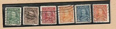 Canada Stamp 1935 KING GEORGE V ADMIRAL UNIFORM 6 stamps USED LOT 459