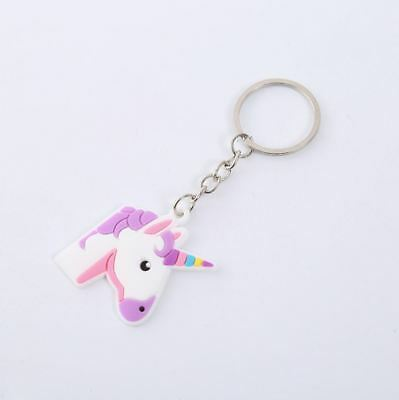Unicorn Keyring Magical Silicone Girl Bag Pendant Keychain A03 F7