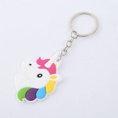 Unicorn Keyring Magical Silicone Girl Bag Pendant Keychain A05 F7