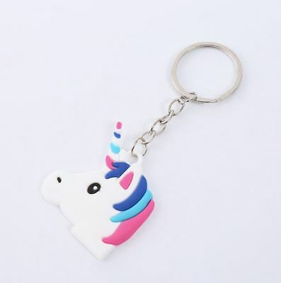 Unicorn Keyring Magical Silicone Girl Bag Pendant Keychain A07 F7