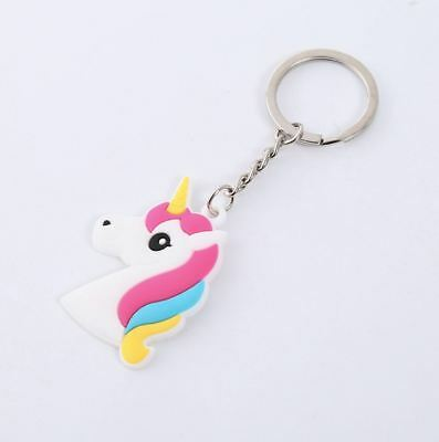 Unicorn Keyring Magical Silicone Girl Bag Pendant Keychain A04 F7