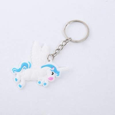 Unicorn Keyring Magical Silicone Girl Bag Pendant Keychain A06 F7
