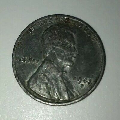 1943 D US Lincoln Steel Wheat Penny Coin lot WW2 ERA