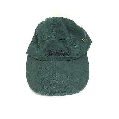 e0bd4eb1f2f LL Bean Vintage Scripted Green Fitted Baseball Cap Hat Size Small 6 3 4-