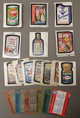 136 TOPPS WACKY PACKAGES TRADING CARD STICKERS series 2 5 6 7 8 9 1970s tan back