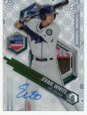 2018 Bowman High Tek ROOKIE AUTO Evan White #pht-ew