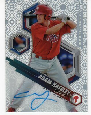 2018 Bowman High Tek ROOKIE AUTO Adam Haseley #pht-ah