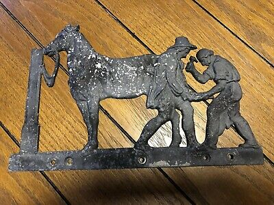 VTG ANTIQUE OLD MAIL BOX ACCESSORY HORSE CAST ALUMINUM ? Great Old Decor