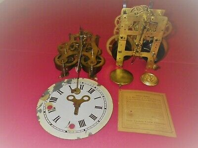 2 Seth Thomas 8 day clock movements,1-Plymouth,Conn & 1-# 89,for parts or repair