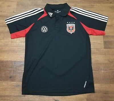 5780a0be11a Adidas ClimaCool DC United Soccer Collar Jersey MLS Womens Size Medium
