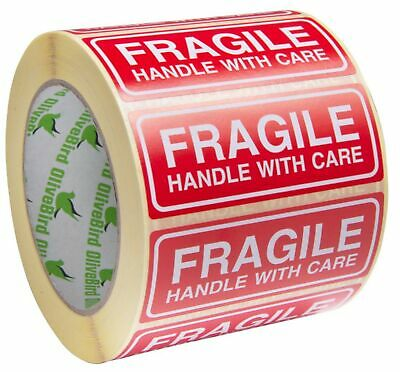 2,000 Fragile Stickers Handle with Care Stickers Size 90x35mm