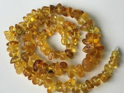 Natural Antique Baltic Vintage Amber OLD BUTTERSCOTCH  BEADS Necklace 35.46 gr