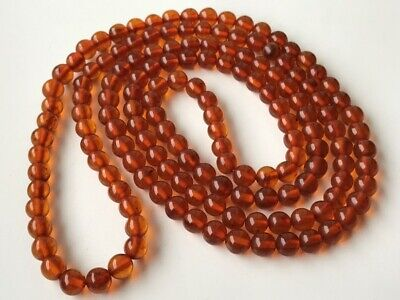 VINTAGE Beautiful Butterscotch / Egg Yolk Baltic Amber Beads Necklace! 52 gr
