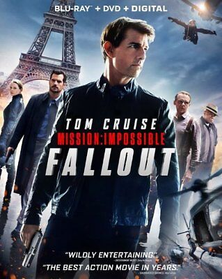 Mission: Impossible Fallout (Blu-ray, DVD, Digital HD, Slipcover) Brand New