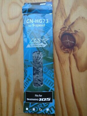 New Shimano Deore/105 LX CN-HG73 9 speed chain. 116 links.