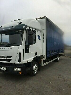 7.5 ton 2011 Iveco Eurocargo Sleeper Cab Curtain side Tail Lift