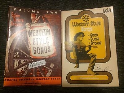 Western Style Songs Volume 2 & 4 Singspiration Songbook Guitar Piano Voice