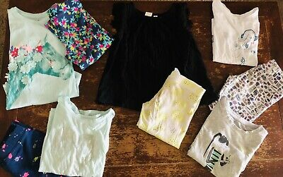 Girls GAP Lot Of Clothes Shirts Leggings 9-pc Size S Small 6/7 Spring