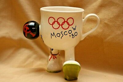 Rare Carlton Ware Walking  Cup Of Moscow Olympics 1980